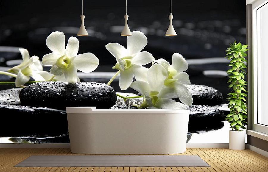 Fototapety do łazienki kwiaty